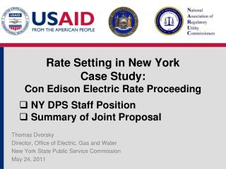Rate Setting in New York Case Study : Con Edison Electric Rate  Proceeding