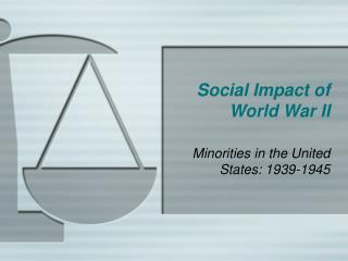 Social Impact of World War II