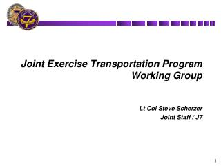 Joint Exercise Transportation Program Working Group