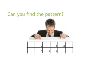 Can you find the pattern?