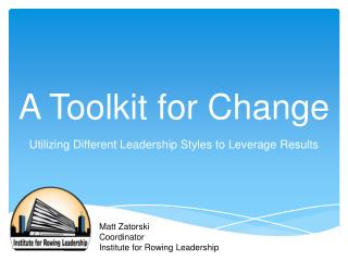 A Toolkit for Change