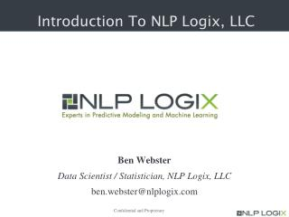 Introduction To NLP Logix, LLC