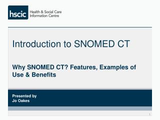 Introduction to SNOMED CT