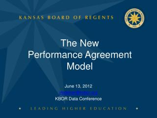 The New   Performance Agreement  Model