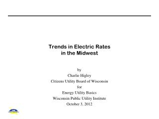 Trends in Electric Rates  in the Midwest
