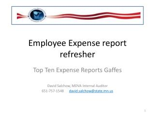Employee Expense report refresher