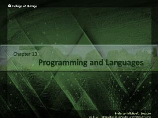 Programming and Languages