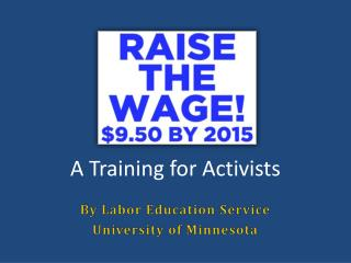 A Training for Activists