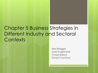 Chapter 5 Business Strategies in Different Industry and  S ectoral  Contexts