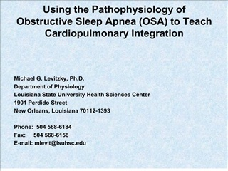 using the pathophysiology of obstructive sleep apnea osa to teach cardiopulmonary integration