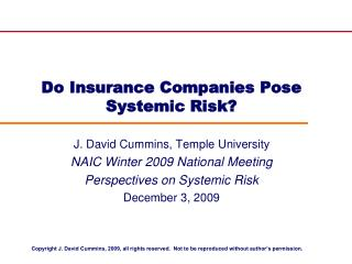 do insurance companies pose systemic risk