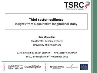Third  sector  resilience insights from a qualitative longitudinal study