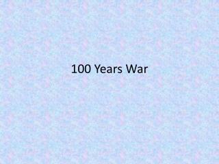 100  Y ears War