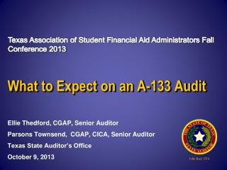 What to Expect on an A-133 Audit