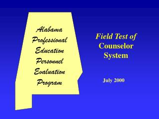 Field Test of Counselor System