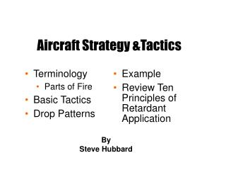 Aircraft Strategy &Tactics