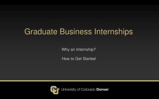 Graduate  Business Internships