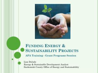 Funding Energy & Sustainability Projects