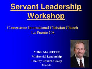 Servant Leadership Workshop