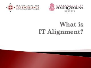 What is  IT Alignment?