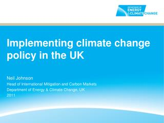 Implementing climate change policy in the UK