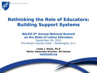 Rethinking the Role of Educators: Building Support Systems