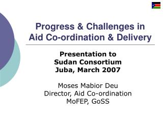 progress  challenges in aid co-ordination  delivery