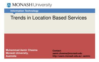 Trends in Location Based Services