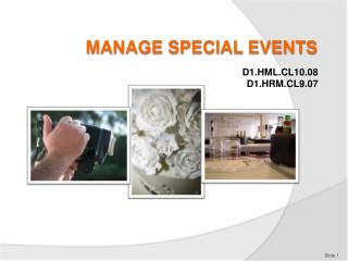 MANAGE SPECIAL EVENTS