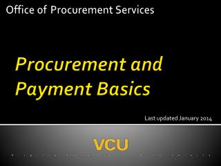 Procurement and Payment Basics
