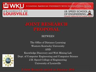 Joint Research proposal