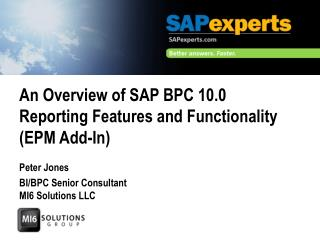 An Overview of SAP BPC 10.0 Reporting Features and Functionality (EPM  Add-In)