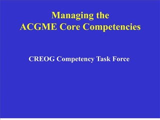 managing the acgme core competencies
