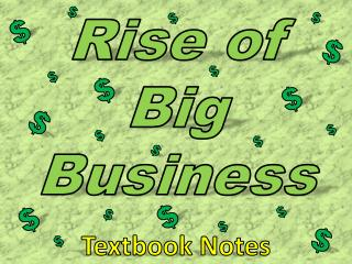 Rise of Big Business