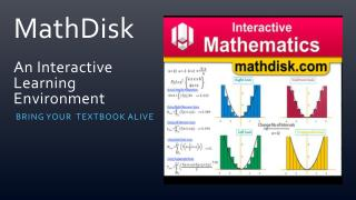 MathDisk  An Interactive Learning Environment