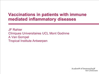 vaccinations in patients with immune mediated inflammatory diseases