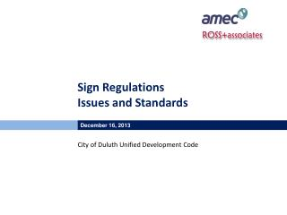 Sign Regulations Issues and Standards