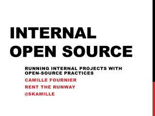 Internal Open Source