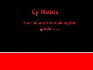 Cy Notes