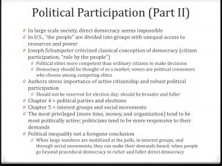 Political Participation (Part II )