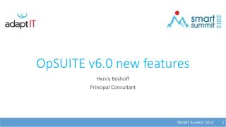 OpSUITE v6.0  new features
