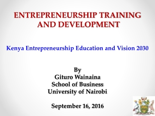 vision 2030: a globally competitive and prosperous kenya
