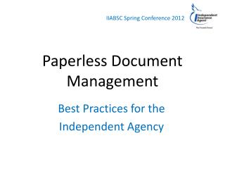 Paperless Document Management