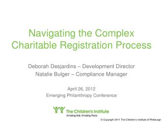 Navigating the Complex Charitable Registration Process