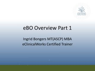 eBO  Overview Part 1