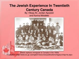 The Jewish Experience In Twentieth Century Canada