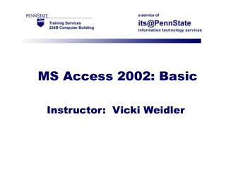 MS Access 2002: Basic