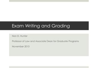 Exam Writing and Grading