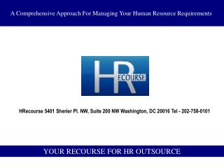 YOUR RECOURSE FOR HR OUTSOURCE