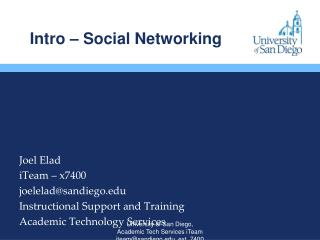 Intro – Social Networking